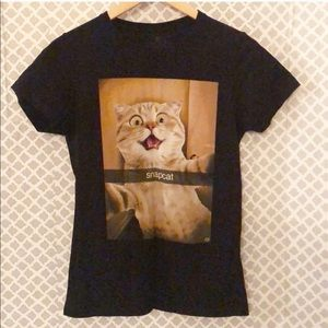 Goodie Two Sleeves Snapcat kitty tee T-shirt